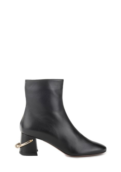 BLACK LUX NAPPA LEATHER ANKLE BOOT L'AUTRE-CHOSE | Ankle Boots | LDK067.60WP26151001