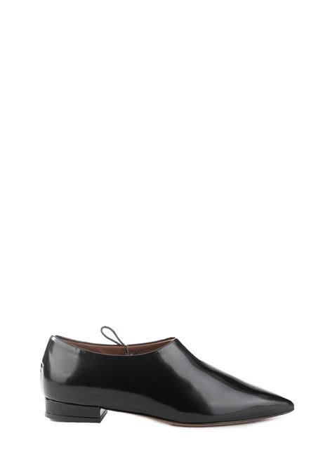 BLACK LEATHER BALLERINA WITH LEATHER INTERIOR L'AUTRE-CHOSE | Ballerinas | OSK108.20WP28411001