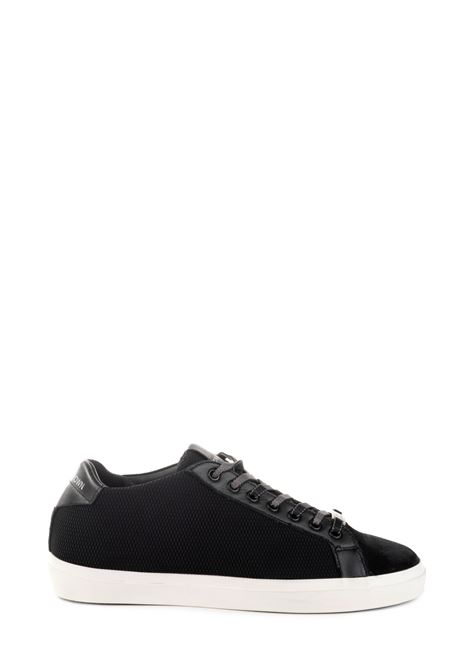 BLACK SNEAKERS IN LEATHER AND MESH LEATHER CROWN | Sneakers | M136402