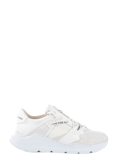 SNEAKER BIANCA IN PELLE BORDERLINE RUNNING LEATHER CROWN | Sneakers | MBRDL401