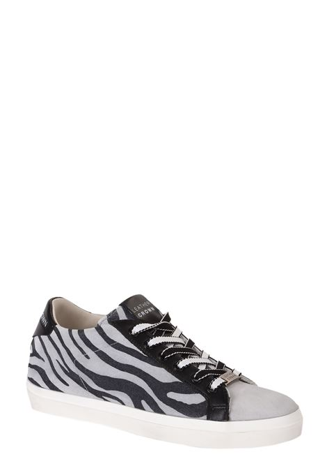 LEATHER SNEAKERS WITH SHEARED LATERAL PRINT LEATHER CROWN | Sneakers | W136409