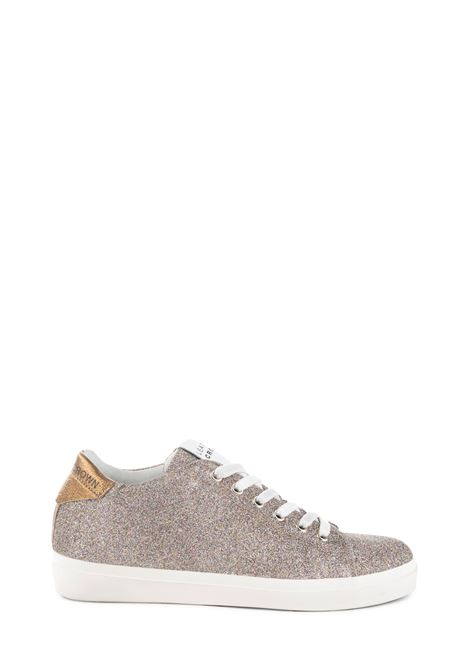 MULTICOLORED SNEAKER IN GLITTERED LEATHER LEATHER CROWN | Sneakers | W136509