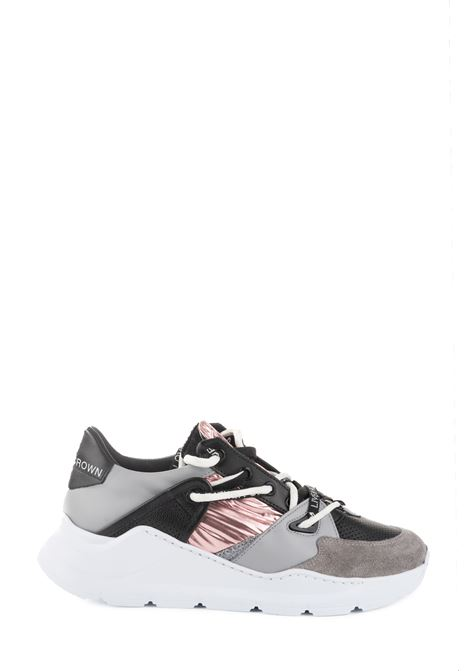 AERO GRAY AND PINK SNEAKERS LEATHER CROWN | Sneakers | WBRDL405