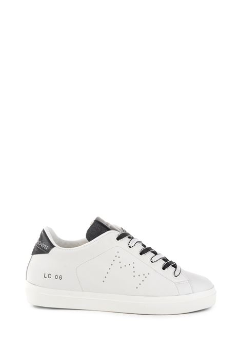WHITE LEATHER SNEAKER WITH LOGO LEATHER CROWN | Sneakers | WLC06452