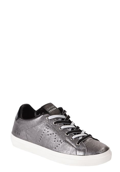 SILVER MINICRACLE SNEACKERS IN NYLON WITH MULTICOLORED LACES LEATHER CROWN | Sneakers | WLC06MINICRACLE+NYLONGRIGIO