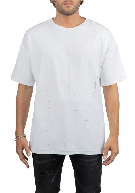 WHITE COTTON T-SHIRT WITH FRONT PRINT LES ARTISTS | T-shirt | LA09TEE1001WHWHITE