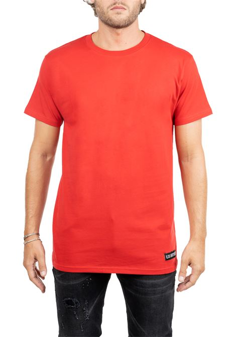 RED T-SHIRT WITH FRONT LOGO APPLICATION LES ARTISTS | T-shirt | LA09TEE1072RED