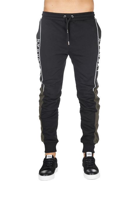 BLACK SUIT SUIT WITH LOGO EMBROIDERY LES HOMMES | Track Pants | UHJ102750U9033