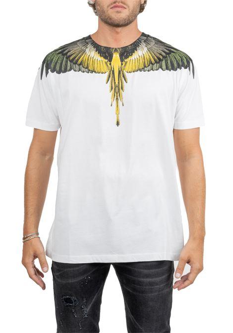 WHITE LONG T-SHIRT WITH WINGS PRINT MARCELO BURLON | T-shirt | CMAA018E190010010188