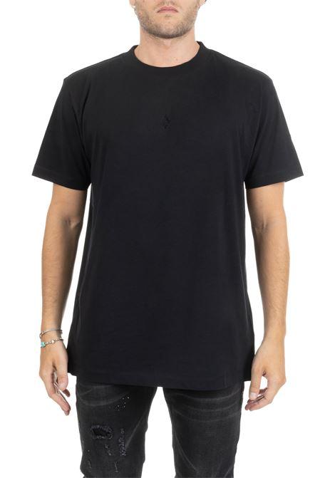 BLACK FLOCK HEART WINGS T-SHIRT MARCELO BURLON | T-shirt | CMAA018E190010811010
