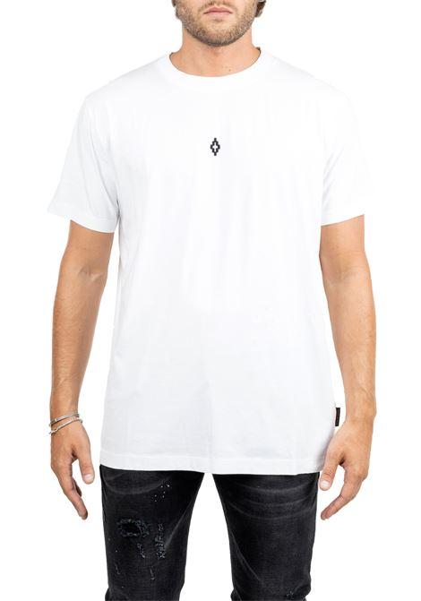 WHITE COTTON T-SHIRT WITH FRONT LOGO MARCELO BURLON | T-shirt | CMAA018F190010810188