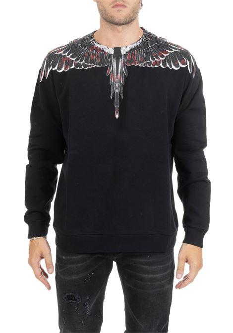 BLACK SWEATSHIRT WITH PRINT MARCELO BURLON | Sweatshirts | CMBA009E196300081088