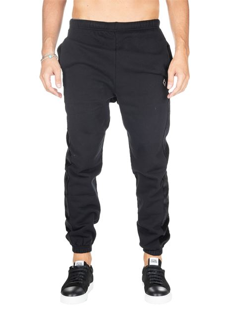 BLACK SUIT WITH FRONT LOGO EMBROIDERY MARCELO BURLON | Pants | CMCH015F19B540121001