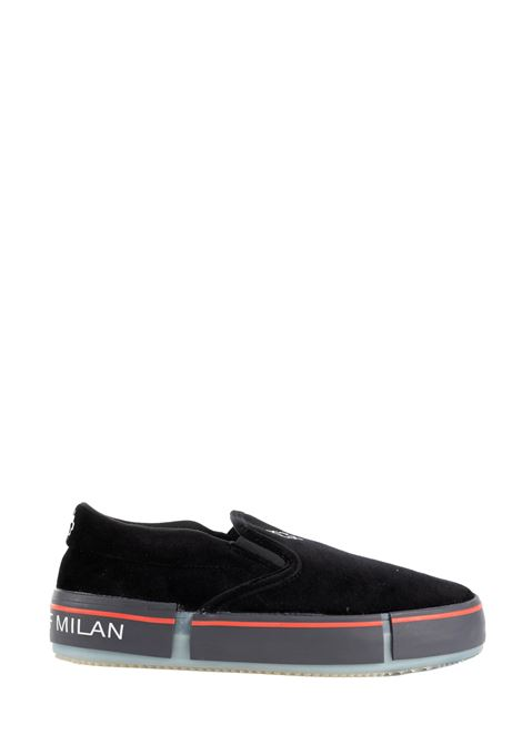 BLACK SENZALACCI SNEAKERS WITH LOGO PRINT MARCELO BURLON | Sneakers | CMIA079F19B990671001