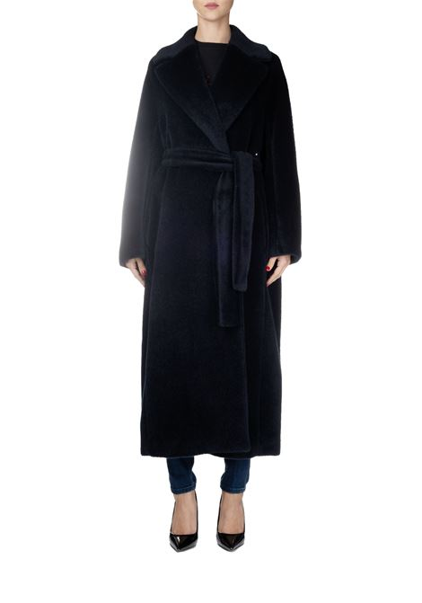 BLUE WOOL AND ALPACA COAT MAX MARA'S | Coats | ELVY90161493000005