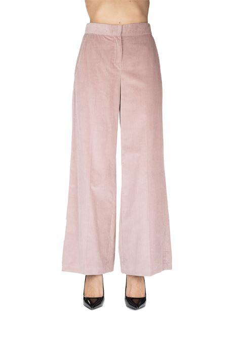 PINK STIRIA PANTS IN RIBBED VELVET MAX MARA'S | Pants | STIRIA91361093000006