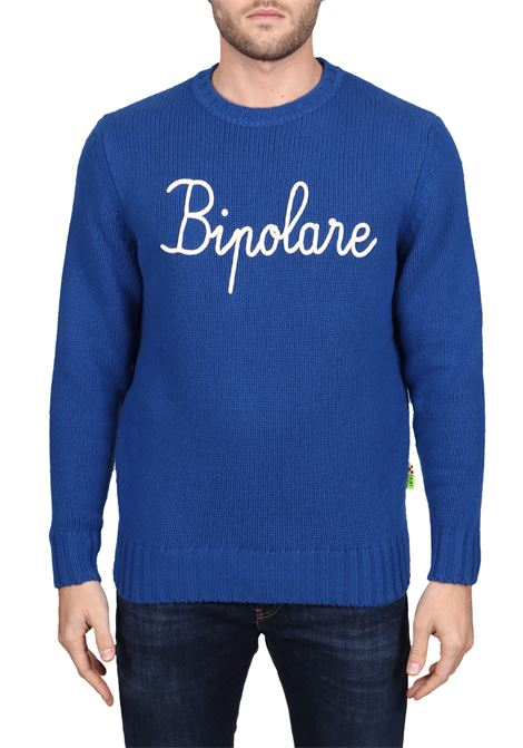 COBALT SWEATER BOMBARDINO EMB BIPOLAR IN MIXED WOOL MC2SAINTBARTH | Sweaters | BOMBARDINO17