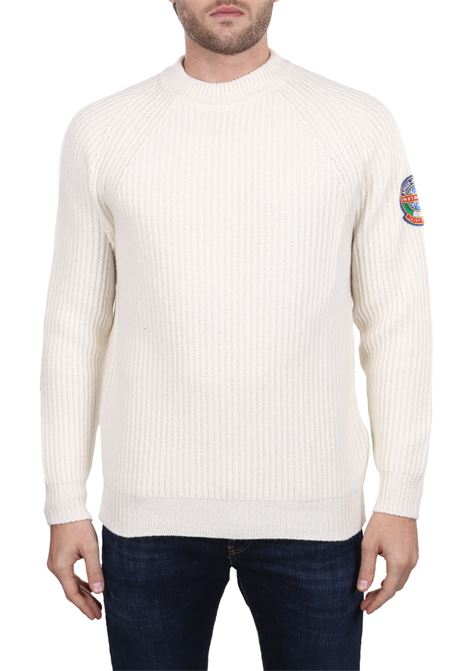WHITE WOOL SWEATER IN MIXED WOOL MC2SAINTBARTH | Sweaters | MARINE10