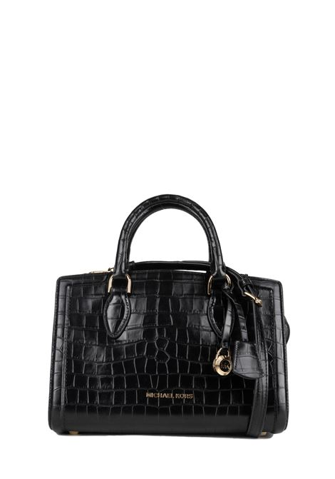 BLACK ZOE HAND BAG WITH CROCODILE PATTERN MICHAEL DI MICHAEL KORS | Bags | 30F9GZCS2EZOE001
