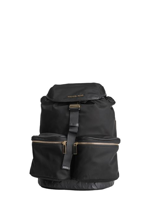 BLACK PERRY BACKPACK WITH MACULATED PRINT MICHAEL DI MICHAEL KORS | Backpacks | 30F9LP0B7CPERRY001