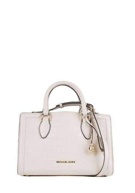 WHITE ZOE HAND BAG WITH CROCODILE PATTERN MICHAEL DI MICHAEL KORS | Bags | 30F9LZCS2EZOE289