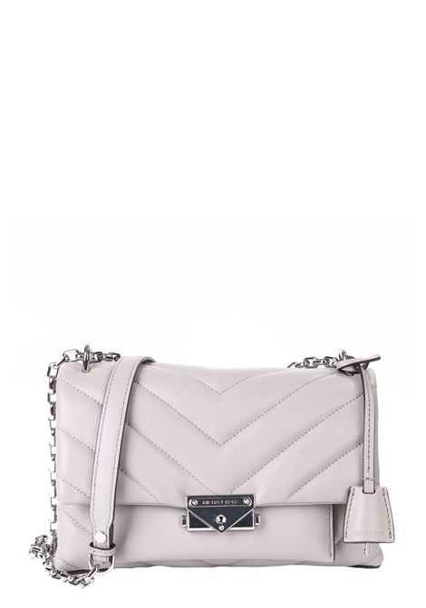 QUILTED GRAY BAG WITH FRONT LOGO MICHAEL DI MICHAEL KORS | Bags | 30T9S0EL8LCECE081