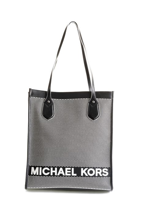 BLACK WHITE FANTASY BAG EMBROIDERED WITH LOGO MICHAEL DI MICHAEL KORS | Bags | 30T9SYIT3CBAY012