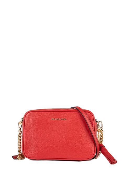 RED GINNY LEATHER BAG MICHAEL DI MICHAEL KORS | Bags | 32F7GGNM8LJETSET683