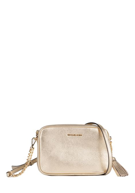 GOLD GINNY METALLIC LEATHER BAG MICHAEL DI MICHAEL KORS | Bags | 32F7MGNM6MJETSET740