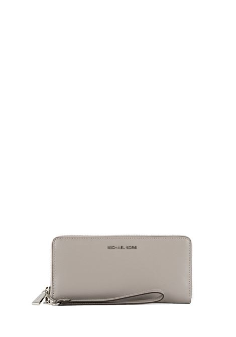 PEARLY GRAY WALLET WITH LOGO MICHAEL DI MICHAEL KORS | Wallets | 32S5STVE9LMONEYPIECES081
