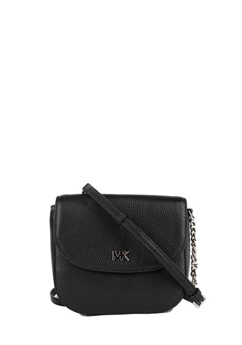 BLACK LEATHER BAG WITH LOGO MICHAEL DI MICHAEL KORS | Bags | 32S8SF5C00LMOTT001