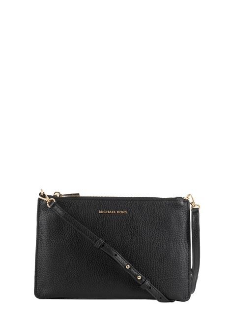 BLACK LEATHER BAG WITH LOGO MICHAEL DI MICHAEL KORS | Bags | 32S9GF5C4LCROSSBODIES001