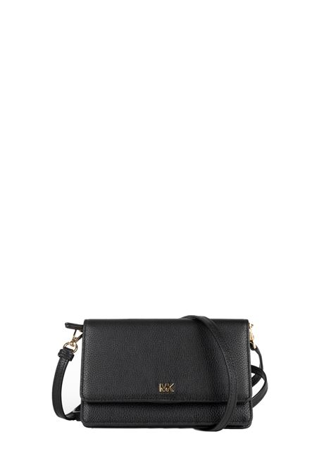 BLACK HAMMERED LEATHER SHOULDER BAG MICHAEL DI MICHAEL KORS | Bags | 32T8GF5C1LMOTT001