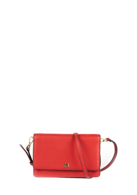 RED HAMMERED LEATHER SHOULDER BAG MICHAEL DI MICHAEL KORS | Bags | 32T8GF5C1LMOTT683