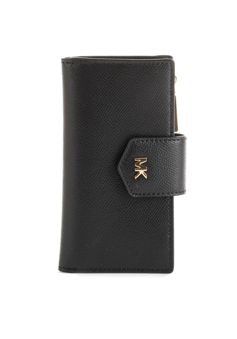 LEATHER WALLET WITH THREE COMPARTMENTS MICHAEL DI MICHAEL KORS | Wallets | 32T9GF6F2LMONEYPIECES001