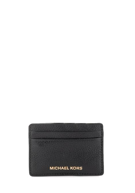 LEATHER CARD HOLDER WITH FRONT LOGO MICHAEL DI MICHAEL KORS | Card Holder | 34F9GF6D0LJETSET001