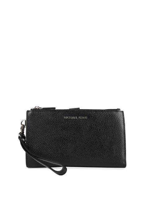 BLACK WALLET IN ADELE LEATHER WITH FRONT LOGO MICHAEL DI MICHAEL KORS | Wallets | 34F9SAFW4LJETSET001