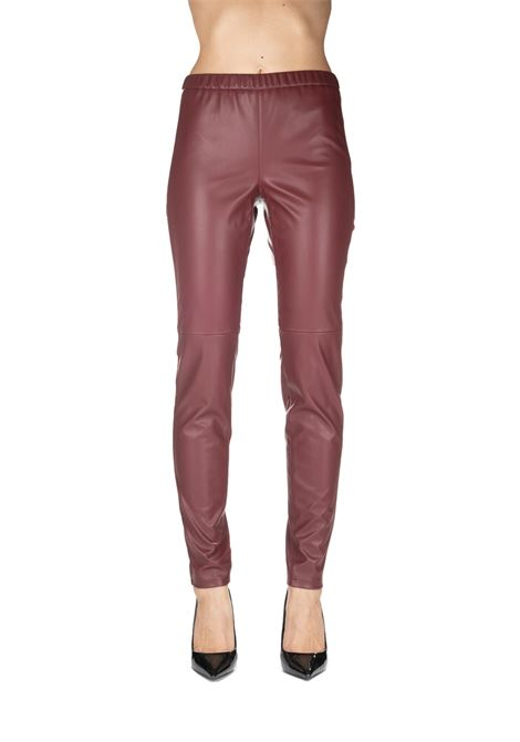 BORDEAUX LEGGINGS IN SIMILPELLE MICHAEL DI MICHAEL KORS | Pants | MB93GJXBFS634