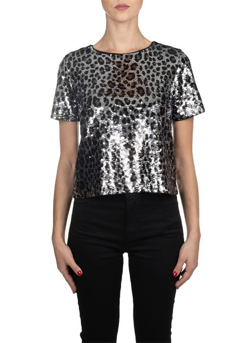 LEOPARD PRINTED T-SHIRT WITH SEQUINS MICHAEL DI MICHAEL KORS | Sweaters | MF95M2CCJE033