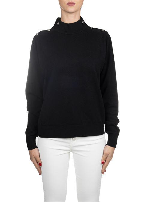 BLACK WOOL JERSEY MICHAEL DI MICHAEL KORS | Sweaters | MF96P1KCSN001