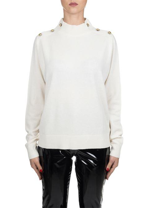 WHITE WOOL JERSEY MICHAEL DI MICHAEL KORS | Sweaters | MF96P1KCSN110