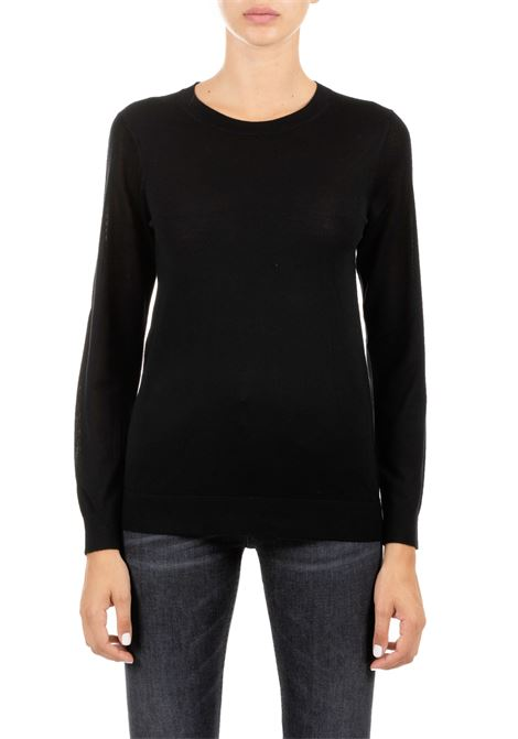 BLACK SWEATER IN MERINO MICHAEL DI MICHAEL KORS | Sweaters | MU96NZRAVW001