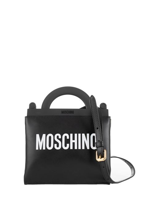 BLACK BAG WITH LOGO MOSCHINO | Bags | 74278001A1555