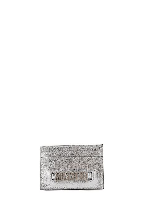 SILVER LAMINATE CARD HOLDER MOSCHINO | Card Holder | 81208012600