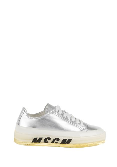SILVER SNEAKER WITH PRINT MSGM | Sneakers | 2741MDS72516690