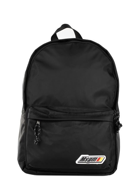 BLACK BACKPACK WITH LOGO MSGM | Backpacks | 2741MDZ20589099