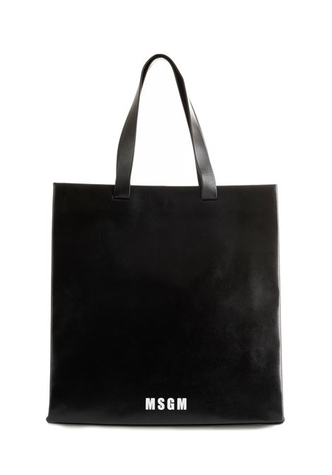 BLACK LEATHER BAG MSGM | Bags | 2741MDZ55X04099