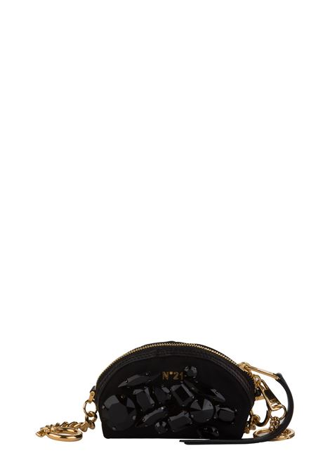 BLACK COIN PURSE WITH FRONT APPLICATIONS N°21 | Key holder | N06332OTT001N0001