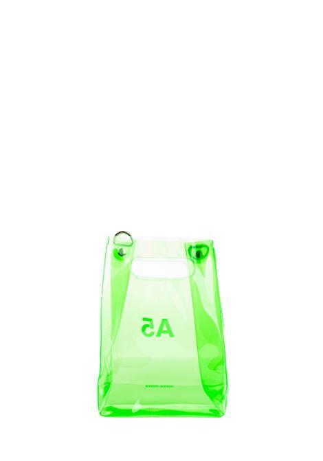 GREEN A5 BAG IN PVC WITH LOGO NANA NANA | Bags | NA018GREEN