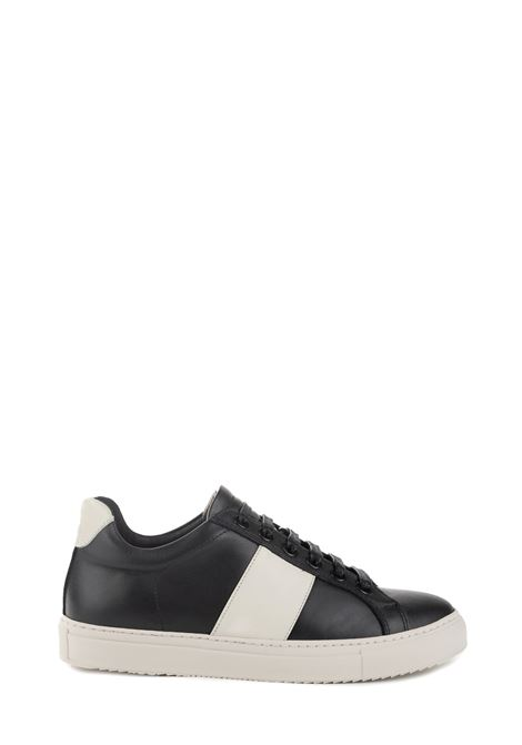 BLACK LEATHER SNEAKER WITH SIDE BANDS NATIONALSTANDARD | Sneakers | M0419F094